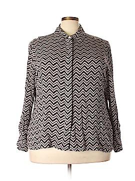 Foxcroft Long Sleeve Blouse Size 22w (Plus)