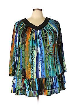 D.J. Summers 3/4 Sleeve Blouse Size 3X (Plus)