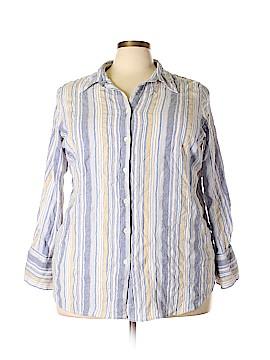 Avenue Long Sleeve Button-Down Shirt Size 28 (Plus)