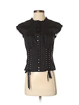 Moda International Short Sleeve Blouse Size S