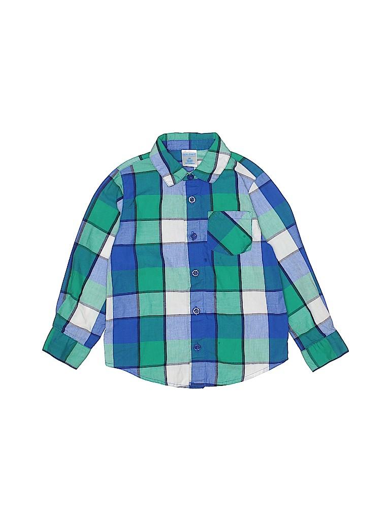 3e657548535d Okie Dokie 100% Cotton Plaid Green Long Sleeve Button-Down Shirt ...