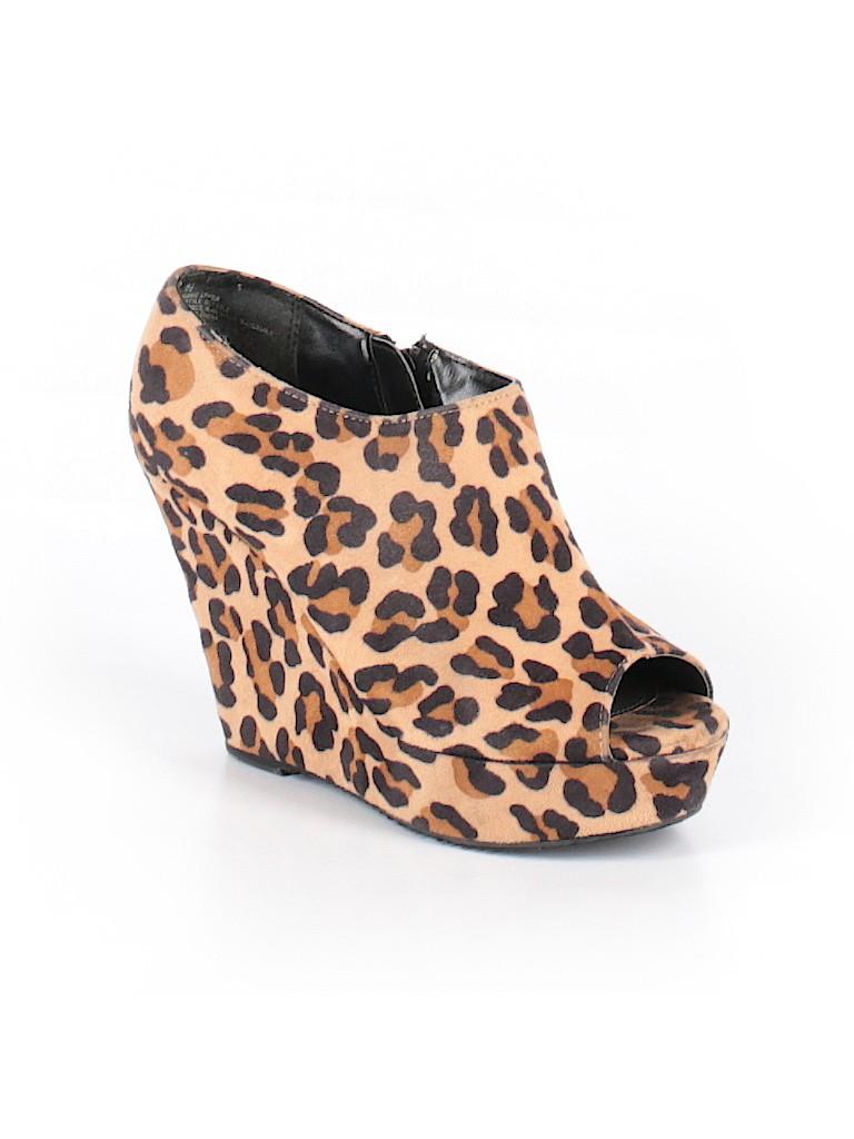 c46c79658976 Mossimo Animal Print Brown Wedges Size 6 1/2 - 56% off | thredUP