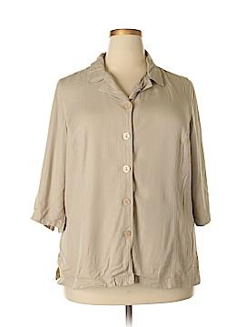 Avenue Studio 3/4 Sleeve Button-Down Shirt Size 18 - 20 (Plus)