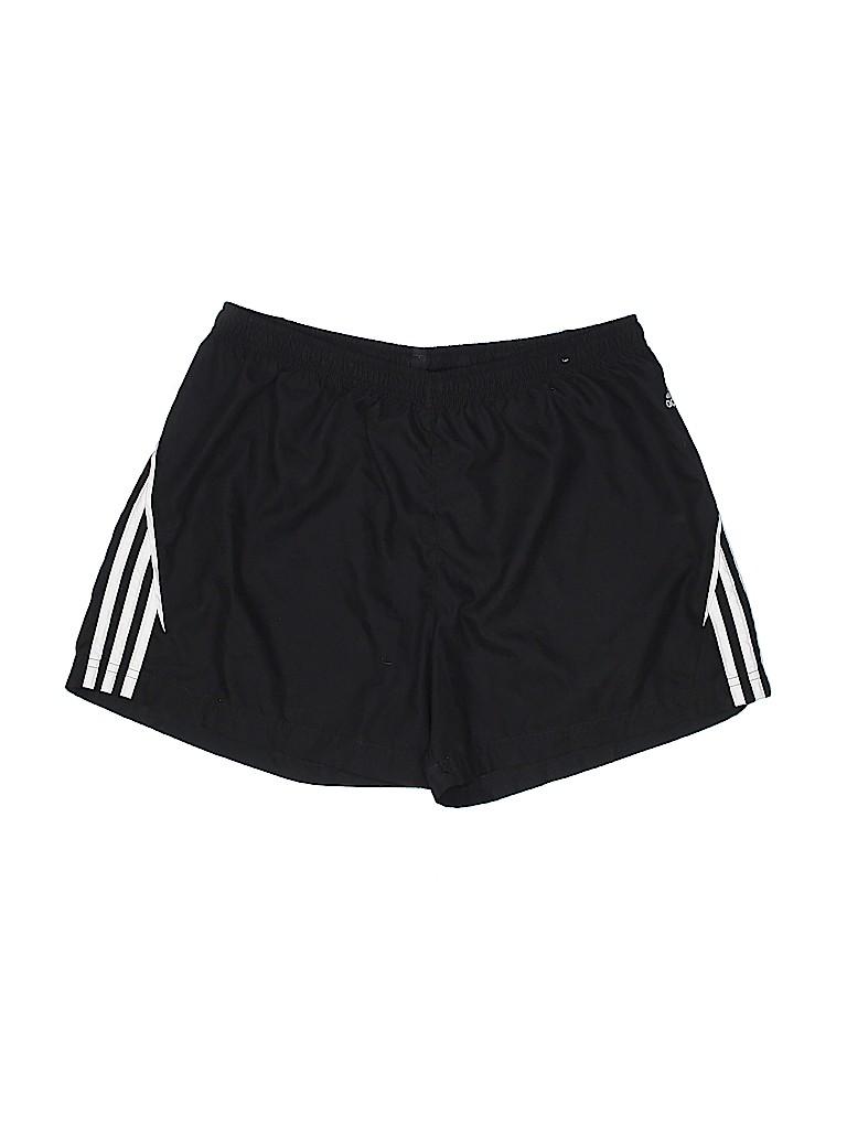 Adidas 100% poliestere strisce nero atletico pantaloncini dimensioni l 60%