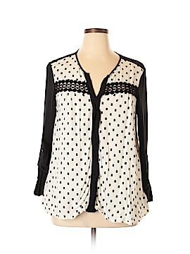 Black Rainn 3/4 Sleeve Blouse Size XL