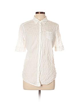 Elizabeth and James Short Sleeve Button-Down Shirt Size L