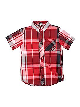 Hawk Short Sleeve Button-Down Shirt Size L (Youth)