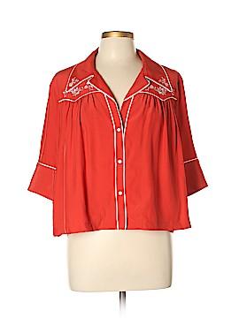 Cinq à Sept 3/4 Sleeve Silk Top Size XL
