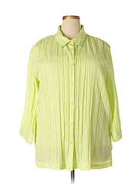 Sag Harbor 3/4 Sleeve Button-Down Shirt Size 2X (Plus)