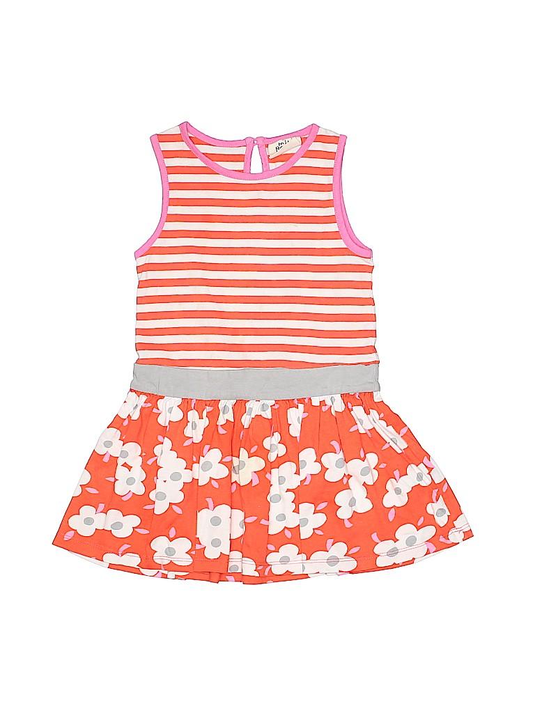 Mini Boden 100 Cotton Floral Stripes Orange Dress Size 2 57 Off
