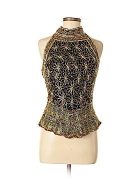 Laurence Kazar New York Sleeveless Silk Top Size L