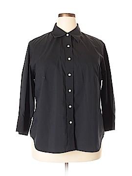 Lands' End 3/4 Sleeve Button-Down Shirt Size 22 (Plus)