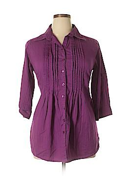 JMS Collection 3/4 Sleeve Button-Down Shirt Size 1X (Plus)