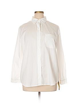 Cherokee Long Sleeve Button-Down Shirt Size 18W (Plus)