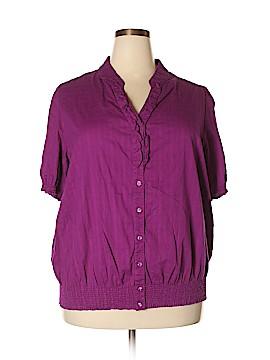 JMS Collection Short Sleeve Button-Down Shirt Size 3X (Plus)