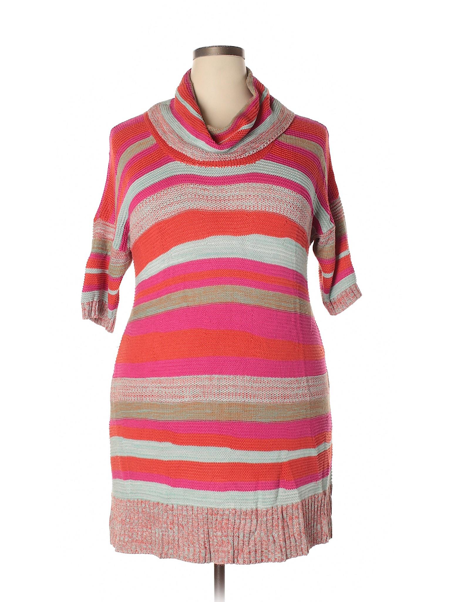 Knit Boutique Casual U Dress winter EqqH8Bz