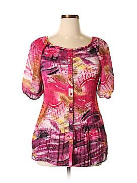 Serenade Short Sleeve Blouse Size 1X (Plus)