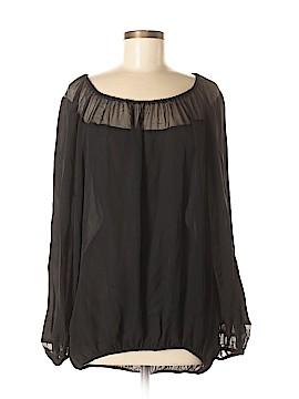 Tamara Mellon Long Sleeve Silk Top Size 6