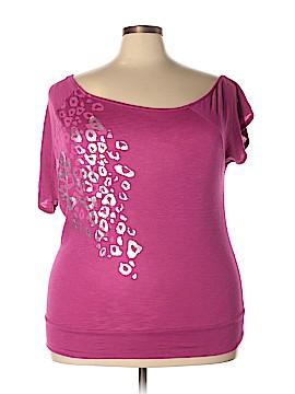 Twist Tees Short Sleeve T-Shirt Size 1X (Plus)