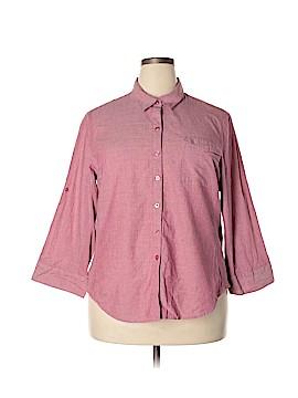 Company Ellen Tracy Long Sleeve Button-Down Shirt Size XXL