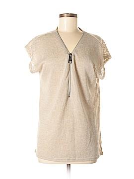 Joan Vass Short Sleeve Top Size M
