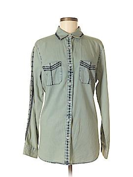 CAbi Long Sleeve Button-Down Shirt Size M