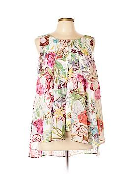 Roz & Ali Sleeveless Blouse Size L