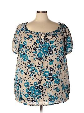 Basic Editions Short Sleeve Blouse Size 3X (Plus)