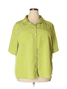 Travelsmith Short Sleeve Blouse Size 3X (Plus)