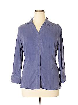 Tianello Long Sleeve Button-Down Shirt Size L