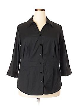 Merona 3/4 Sleeve Button-Down Shirt Size 22 (Plus)