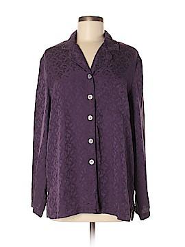 Judith Hart Long Sleeve Silk Top Size M