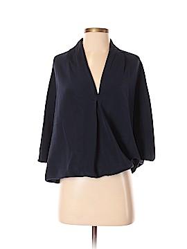 Ramy Brook Short Sleeve Silk Top One Size