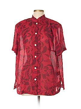 Donna Ricco Short Sleeve Blouse Size 16
