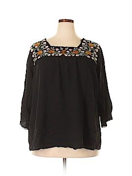 Solitaire Short Sleeve Blouse Size 3X (Plus)