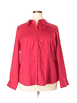 Fashion Bug Long Sleeve Button-Down Shirt Size 2X (Plus)
