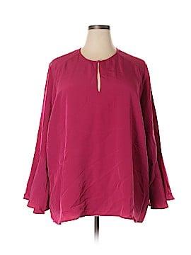 Melissa McCarthy Seven7 Long Sleeve Blouse Size 4X (Plus)