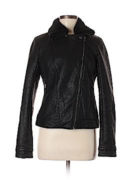 Hollister Faux Leather Jacket Size M