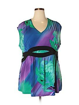 Fashion Bug Short Sleeve Top Size 2X (Plus)