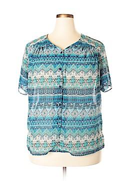 BonWorth Short Sleeve Blouse Size XL (Petite)