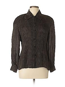 Linda Allard Ellen Tracy Long Sleeve Silk Top Size 12 (Petite)