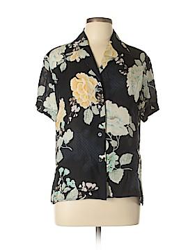 Linda Allard Ellen Tracy Short Sleeve Silk Top Size 12 (Petite)