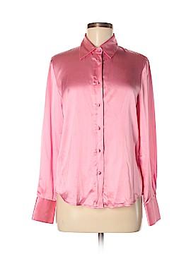 David Brooks Long Sleeve Silk Top Size 6