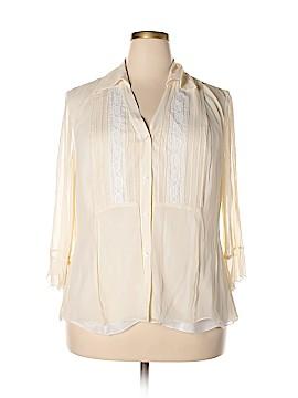 Nine West 3/4 Sleeve Blouse Size 18W (Plus)