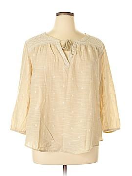SONOMA life + style 3/4 Sleeve Blouse Size XXL