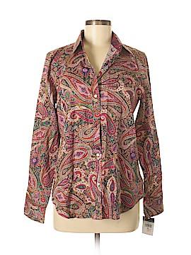 Chaps Long Sleeve Button-Down Shirt Size M