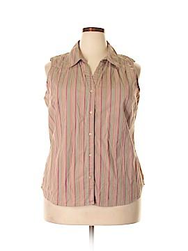 St. John's Bay Sleeveless Button-Down Shirt Size 2X (Plus)