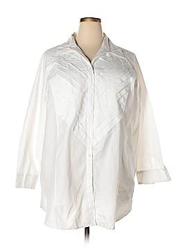 Serengeti Long Sleeve Button-Down Shirt Size 2X (Plus)