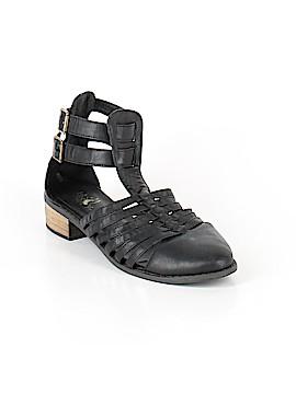 Black Poppy Sandals Size 8