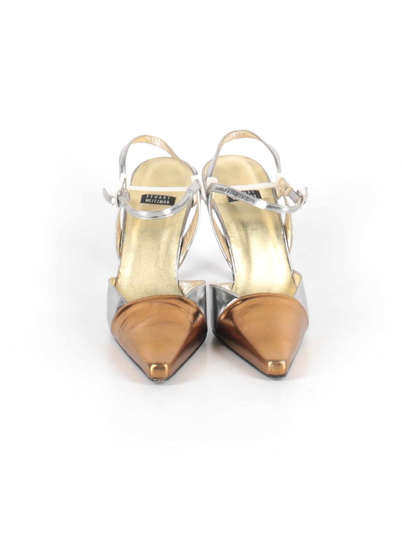 ed9a7acfda5 Stuart Weitzman Metallic Color Block Silver Heels Size 6 - 87% off ...